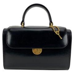 "Maison Martin Margiela Black Leather ""Replica Bag"" Beauty Case"