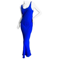 Maison Martin Margiela Silk Bias Cut Dress by John Galliano in Yves Klein Blue
