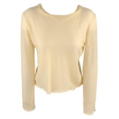 MAISON MARTIN MARGIELA Size M Beige Knitted Wool Pullover