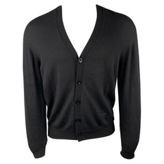 MAISON MARTIN MARGIELA Size M Black Cashmere Buttoned Stitch Cardigan