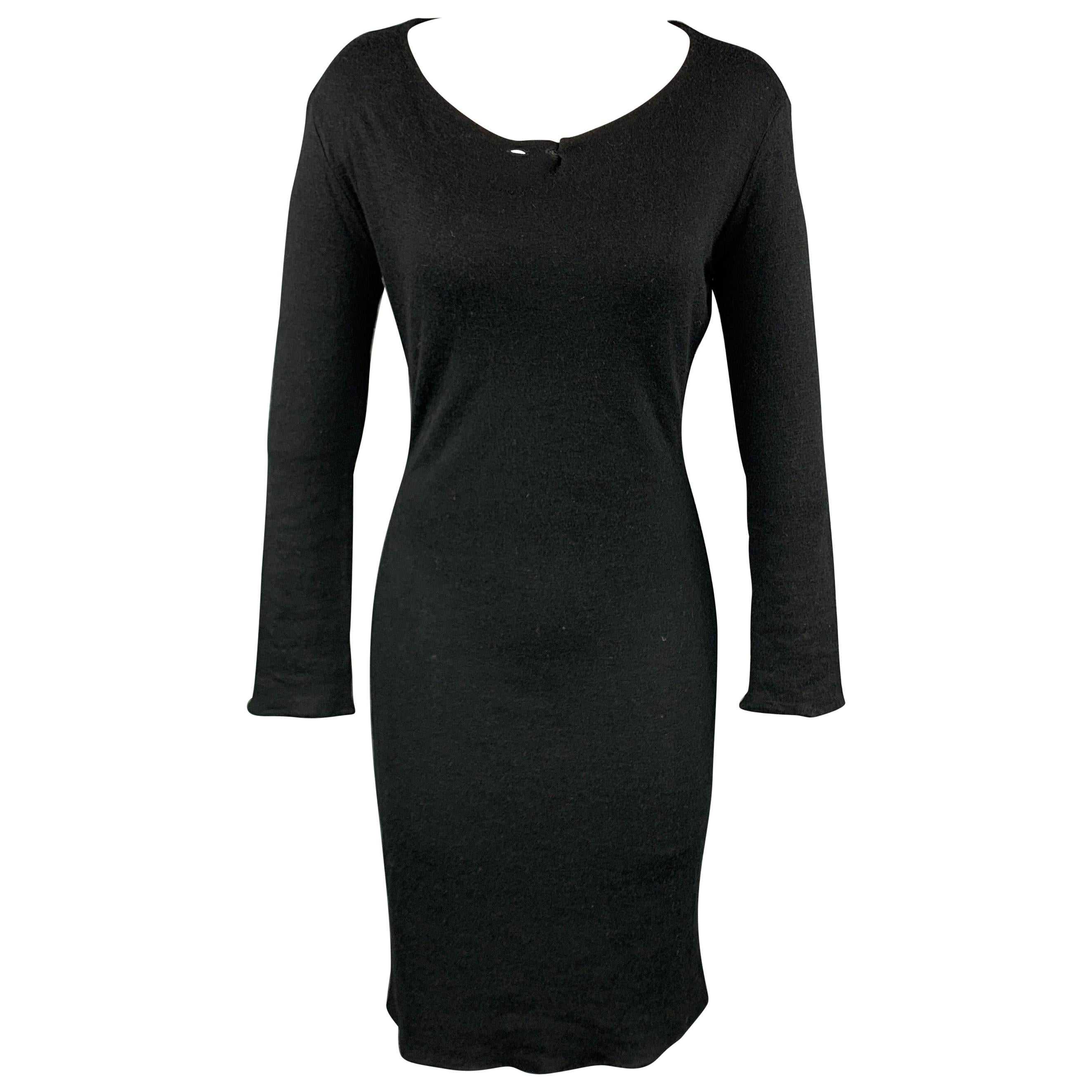 MAISON MARTIN MARGIELA Size S Black Viscose / Wool Sweater Dress