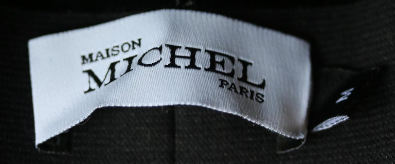 Maison Michel Kate Grosgrain-Trimmed Rabbit-Felt Fedora  In Excellent Condition For Sale In London, GB