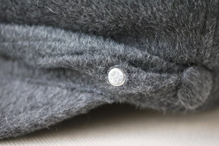 Maison Michel New Abby Wool-Blend Hat In Excellent Condition For Sale In London, GB