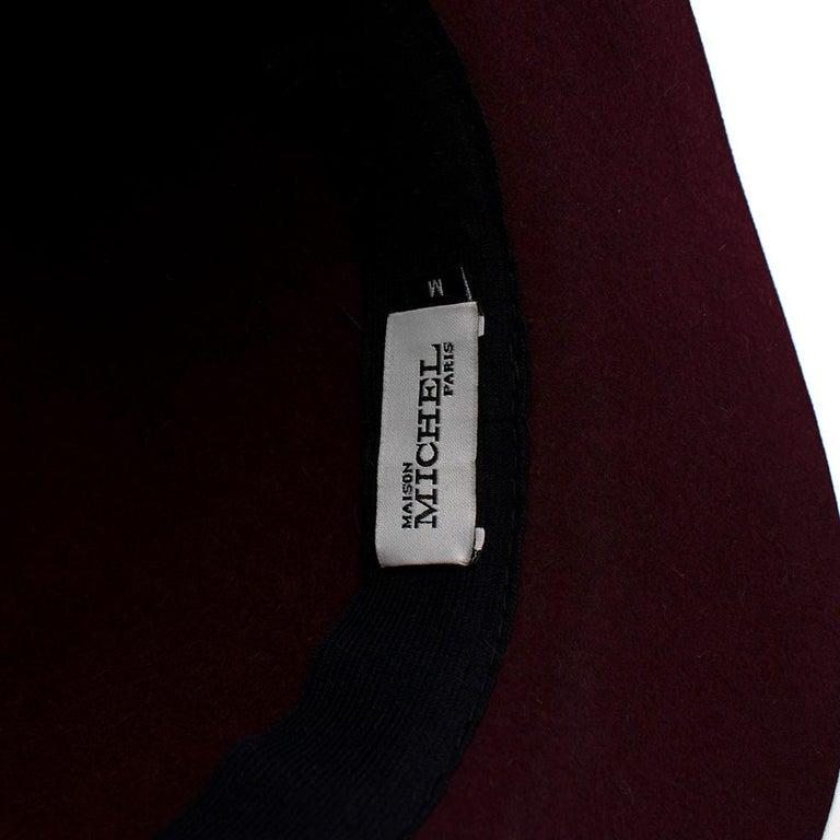 Maison Michel Paris Wool Felt Hat Bordeaux  For Sale 1