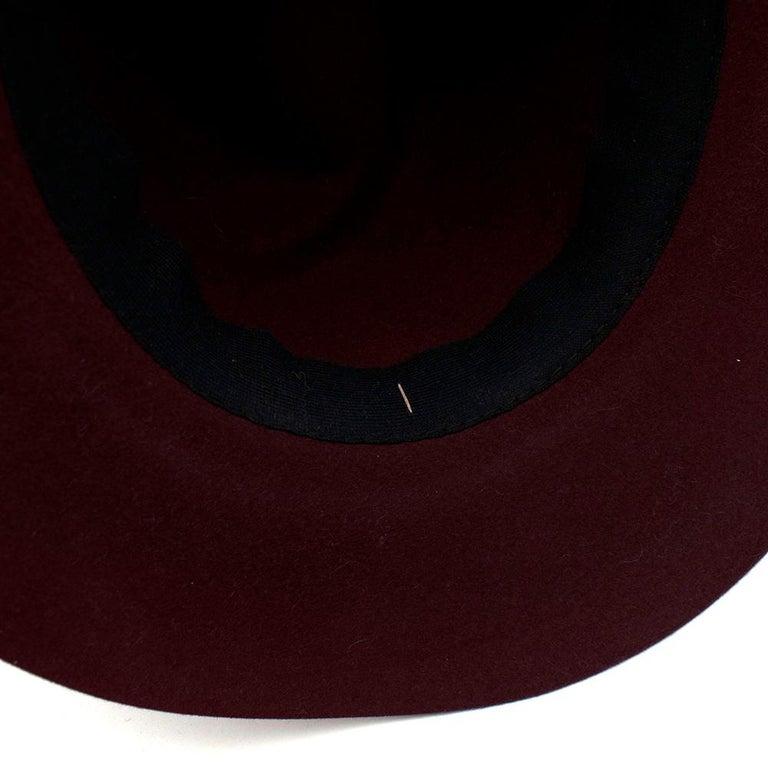 Maison Michel Paris Wool Felt Hat Bordeaux  For Sale 2