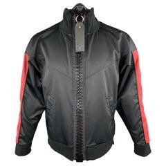 MAISON MIHARA YASUHIRO Size S Black & Burgundy Giant Zipper Track Jacket
