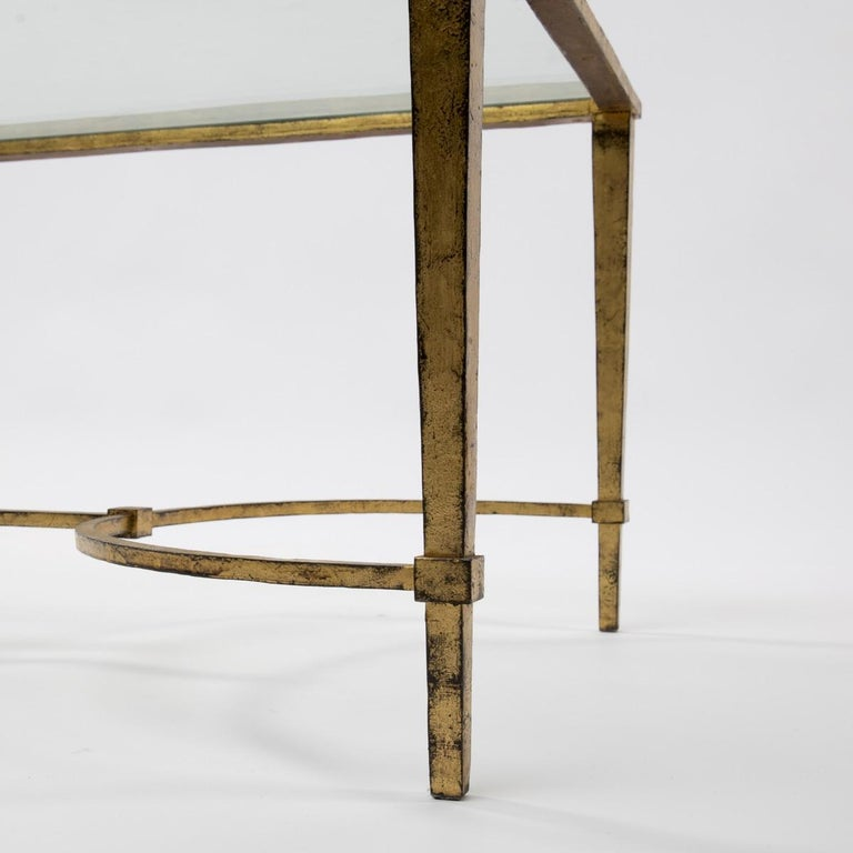 Maison Ramsay, France, Golden Iron and Glass Coffee or Cocktail Table In Good Condition For Sale In Brussels, BE
