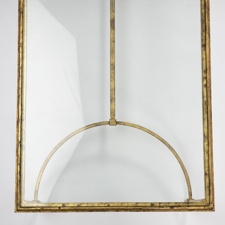 Maison Ramsay, France, Golden Iron and Glass Coffee or Cocktail Table For Sale 2