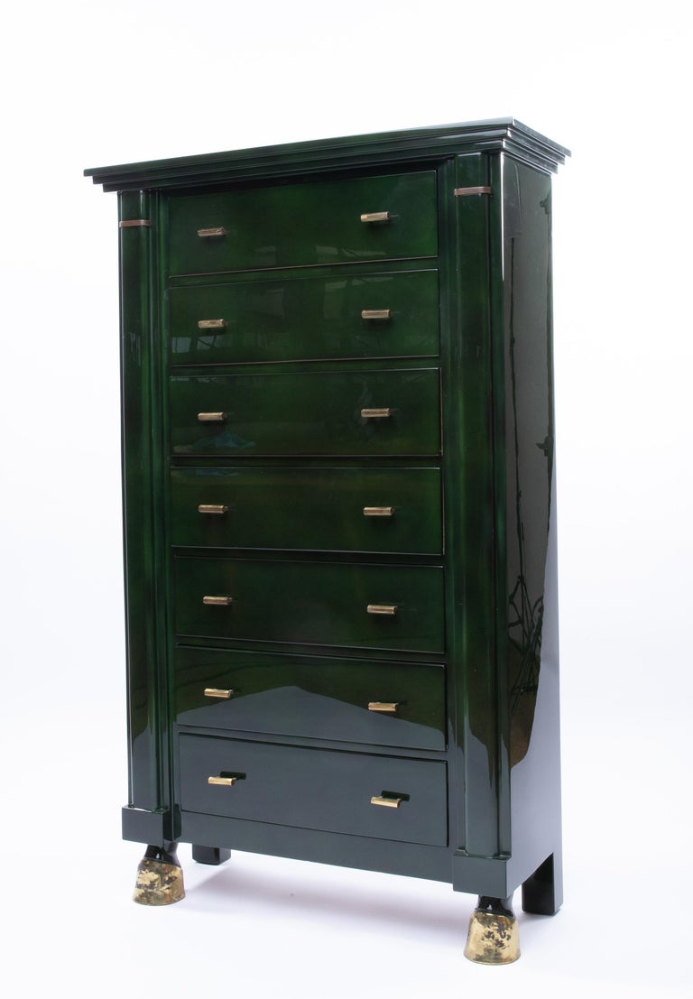 A beautiful chest of seven drawers (semainier) designed and produced by the French house of decoration