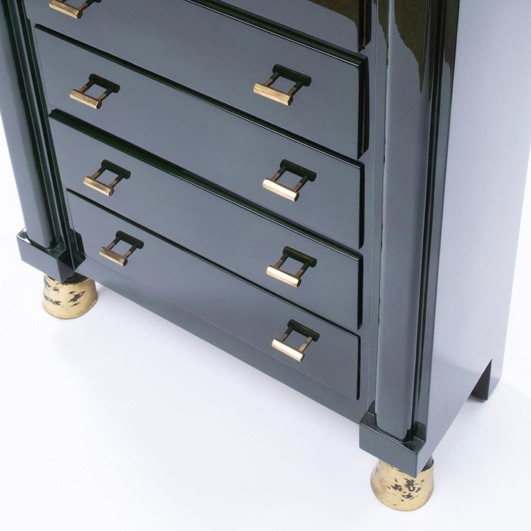 Maison Ramsay Paris, Green Lacquered Wood