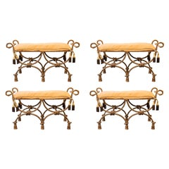 Maison Ramsay, Set of Four Banquettes, France, circa 1970