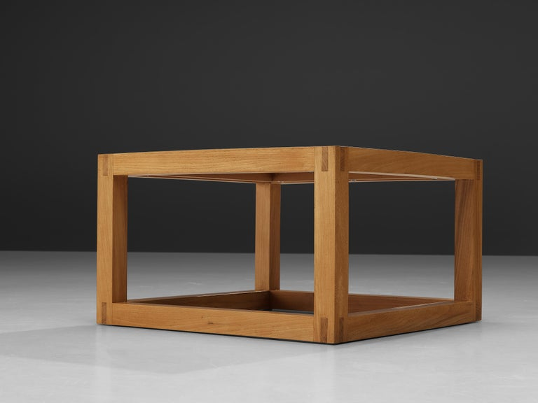 Maison Regain Cubic Coffee Table in Solid Elm For Sale 1
