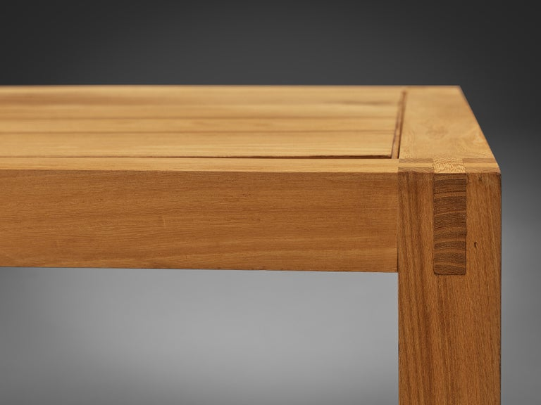 Maison Regain Cubic Coffee Table in Solid Elm For Sale 2