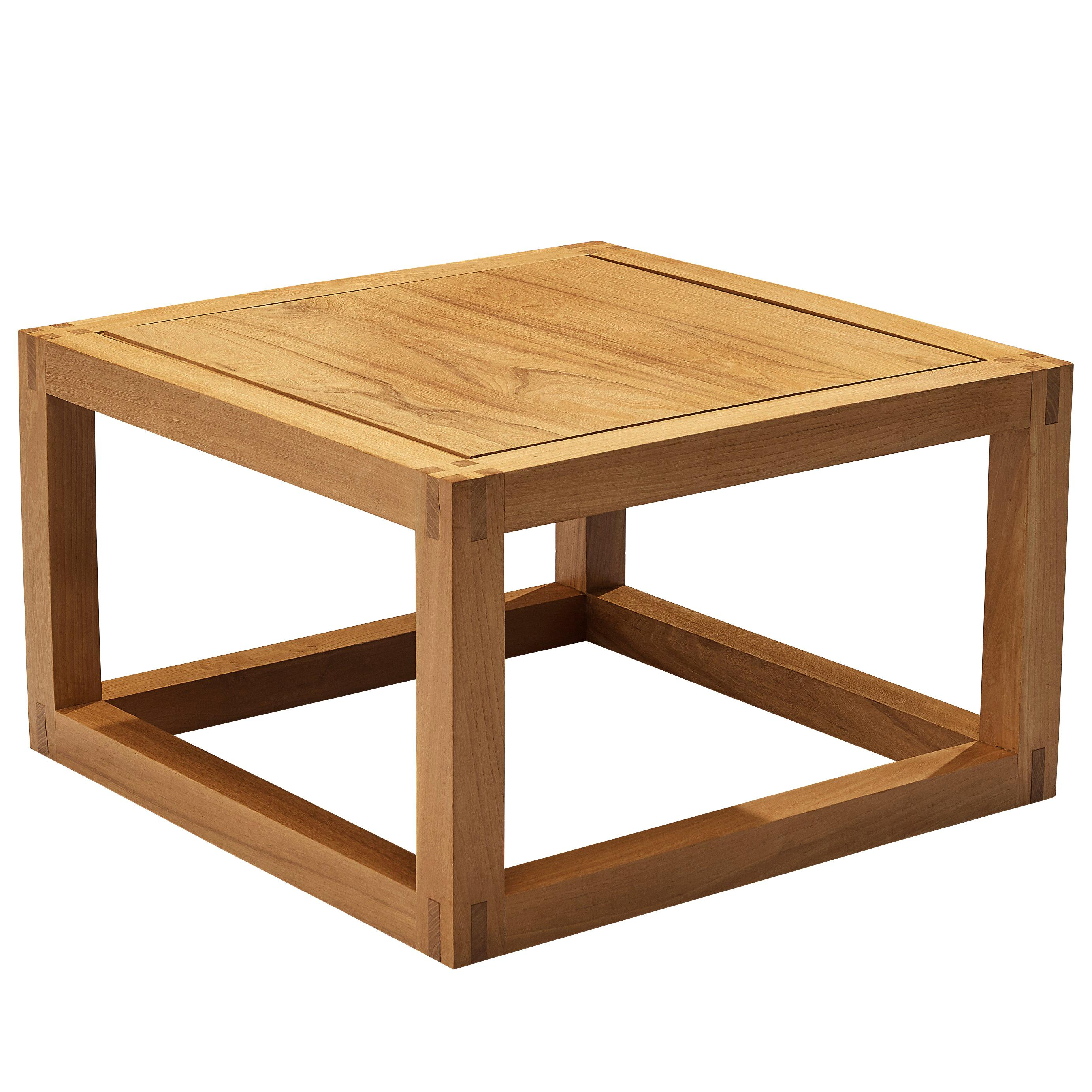 Maison Regain Cubic Coffee Table in Solid Elm
