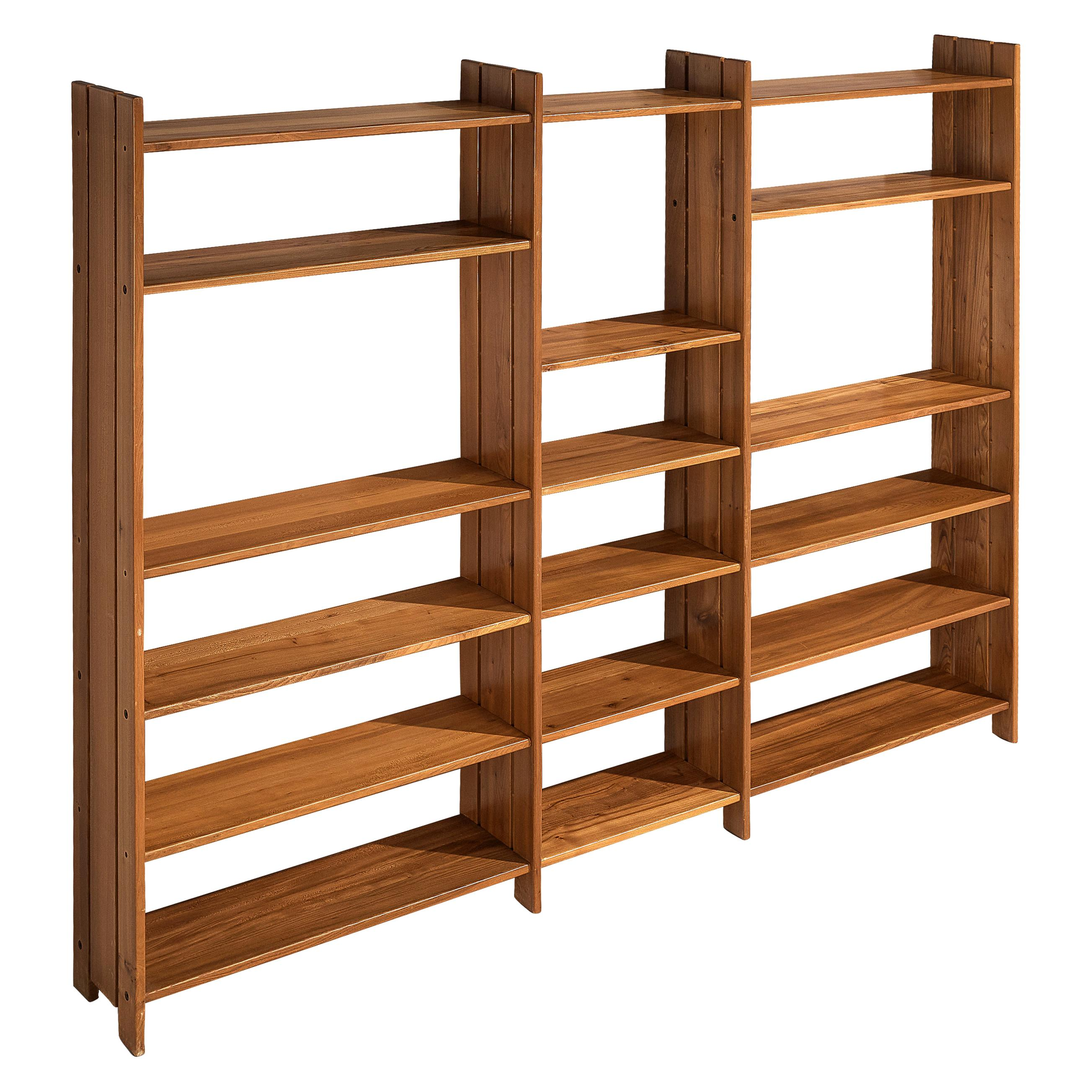 Maison Regain Free-Standing Bookshelf or Room Divider in Solid Elm