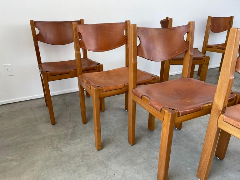 Maison Regain Leather Dining Chairs For Sale 1
