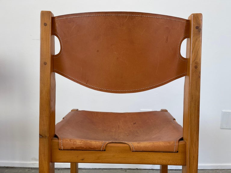 Maison Regain Leather Dining Chairs For Sale 4