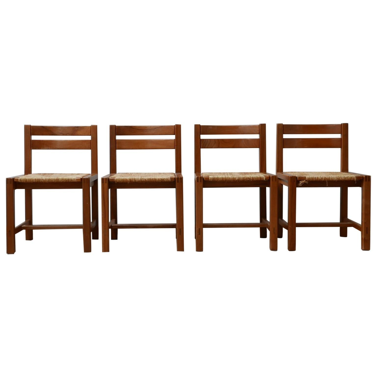 Maison Regain Midcentury Cord Dining Chairs '4'