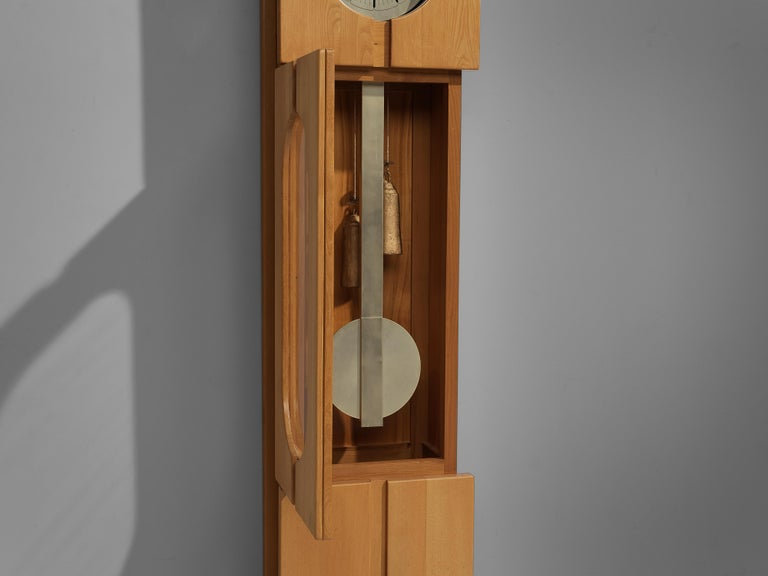 Maison Regain Sculptural Grandfather Clock in Solid Elm For Sale 4