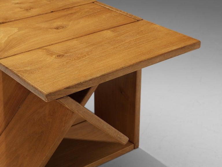 Maison Regain Sculptural Side Table in Solid Elm For Sale 4