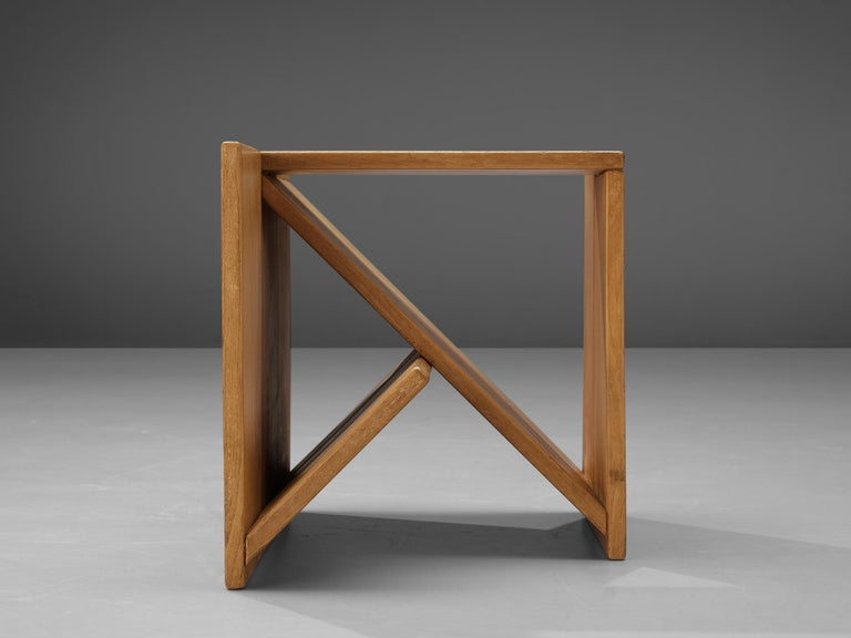 Maison Regain Sculptural Side Table in Solid Elm For Sale 2