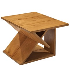 Maison Regain Sculptural Side Table in Solid Elm