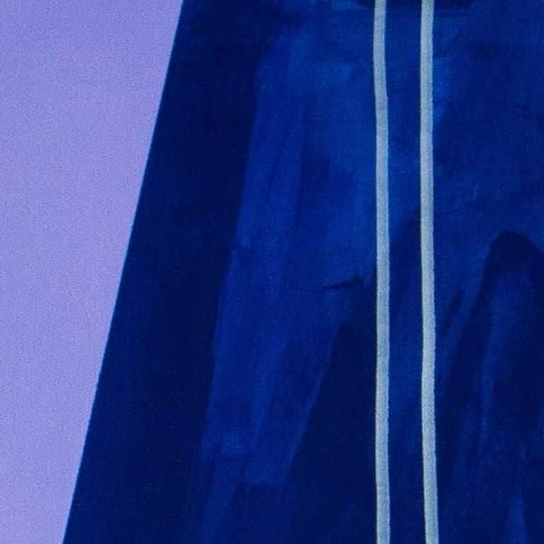 purple summer, Acrylic on canvas, 120cm x 100cm, 2021 - Contemporary Painting by Maite Pereda