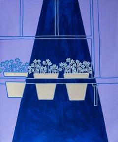 purple summer, Acrylic on canvas, 120cm x 100cm, 2021