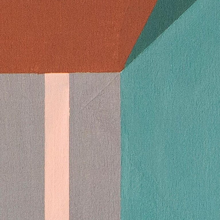 greyish blues, Acrylic on canvas, 60cm x 60cm, 2021 - Contemporary Painting by Maite Pereda