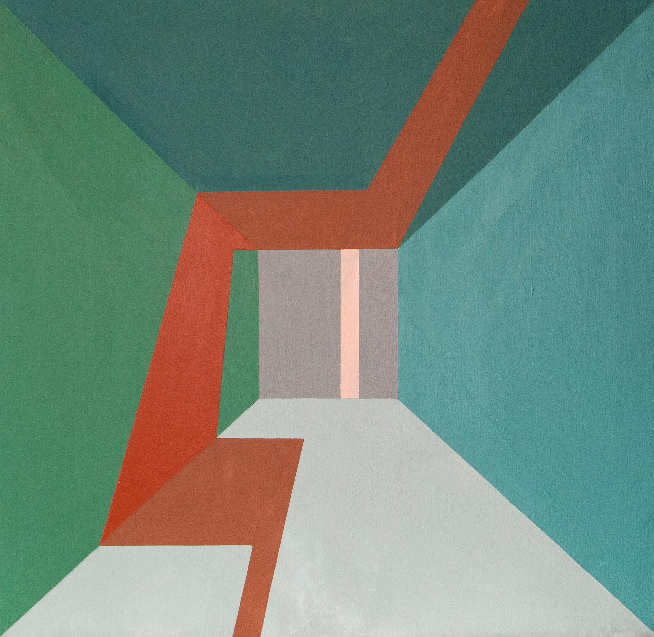 greyish blues, Acrylic on canvas, 60cm x 60cm, 2021
