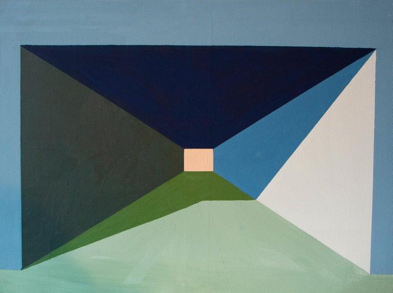 Maite Pereda Still-Life Painting - she saw the pink light, Acrylic on canvas, 80cm x 60cm, 2021