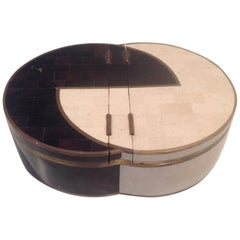 Maitland Smith 2-Tone Double Lidded Sculpture Box for Jewelry or Display