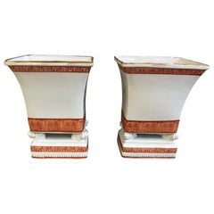 Maitland Smith Asian Style Porcelain Vases