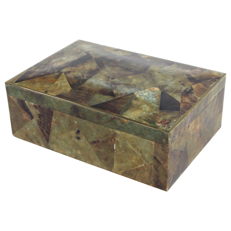 Maitland Smith Attributed Modern Tessellated Humidor Box