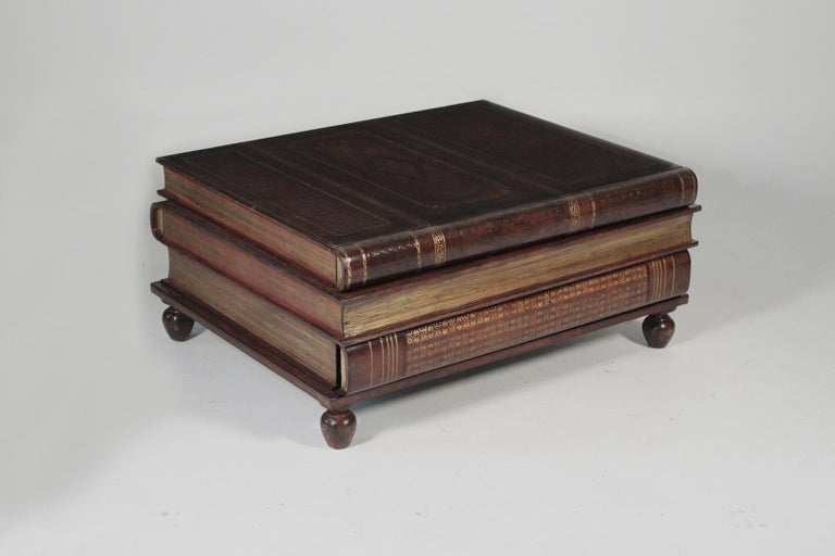 Maitland Smith Book Stack Leather Coffee Table At 1stdibs