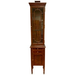 Maitland Smith Chinese Chippendale Style Tall Display Cabinet Vitrine
