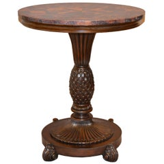 Maitland-Smith Coconut and Wood Accent Side Table
