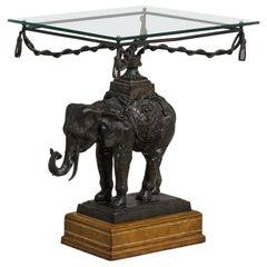 Maitland Smith Designed Elephant Side Table, 1970s