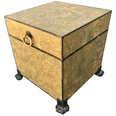 Maitland Smith Embossed Storage Trunk/ Table