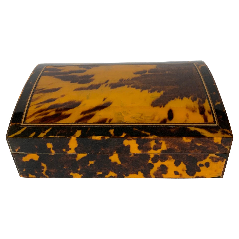 Maitland Smith Faux Tortoise Box