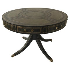 Maitland Smith Green Leather Rent Table