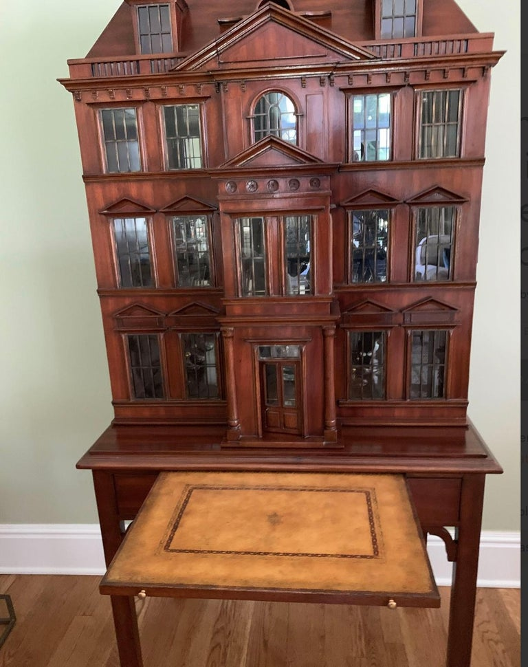 Post-Modern Maitland Smith Iconic Postmodern Victorian Dollhouse Bar Cabinet Cupboard For Sale