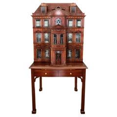 Maitland Smith Iconic Postmodern Victorian Dollhouse Bar Cabinet Cupboard