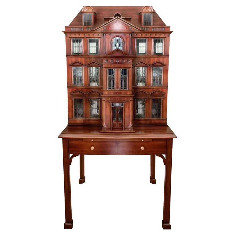 Maitland Smith Iconic Postmodern Victorian Dollhouse Bar Cabinet Cupboard For Sale