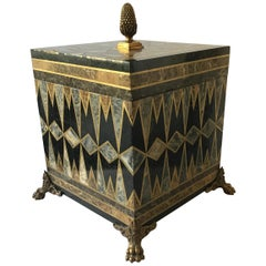 Maitland Smith Inlaid Marble and Brass Box