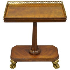 Maitland Smith Italian Regency Empire Occasional Accent Side Table Paw Feet