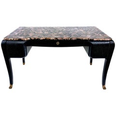 Maitland Smith leather Desk with Tessellated Abalone
