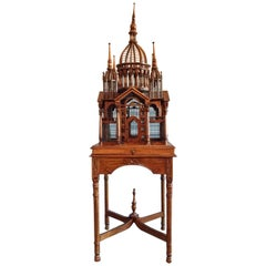 Maitland Smith Mahogany Victorian Bird Cage