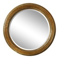 Maitland-Smith Mirror Dimensional Large-Scale Gold Leaf and Silver Leaf
