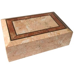 Maitland-Smith Pink Tessellated Stone Box